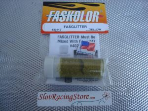 """Faskolor """"Fasglitter"""" polvere metallica gialla da miscelare con Faskoat per ottenere una finitura metallica scintillante"""
