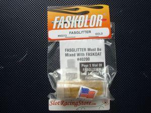 """Faskolor """"Fasglitter"""" polvere metallica dorata da miscelare con Faskoat per ottenere una finitura metallica scintillante"""