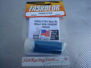 "Faskolor ""Fasglitter"" polvere metallica blu da miscelare con Faskoat per ottenere una finitura metallica scintillante"