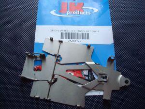 JK telaio 1/24 in acciaio per modelli tipo F1 e Indy , pance larghe