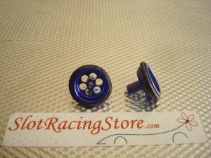 """JK ruote anteriori 5/8"""" (diametro 15,65mm) in alluminio anodizzato blu, con 6 fori"""