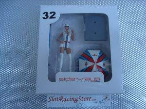 Sideways figurina 1/32 Martini Racing con ombrello: Estelle