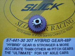 """Slick-7 corona hybrid modulo 48, 30 denti, per assali da 1/8"""""""