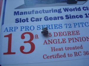 ARP pignone 13 denti, modulo 72, 5 gradi di angolazione, foro 2mm