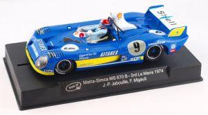Slot.it Matra MS670 B n.9 - 3rd Le Mans 1974 - piloti: J.P.Jabouille - F.Migault