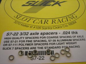 """Slick-7 spessori per assali da .024"""" in acciaio inossidabile"""