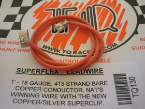 TQ fili alimentazione motore siliconati con clips, arancioni