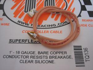 TQ fili alimentazione motore siliconati con clips, trasparenti