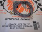 TQ fili alimentazione motore siliconati con clips, blu