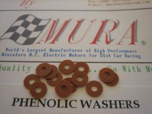 """Mura spessori motore in """"Phenolic"""" ( 12 pezzi per confezione)"""