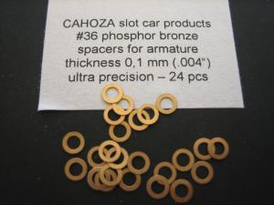Cahoza spessori per indotti in bronzo fosforoso da 0,10mm ( confezione da 24 pezzi)