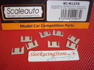 Scaleauto separatori metallici da 0,1 mm per supporti cuscinetti-assale (per l'anteriore o il posteriore)