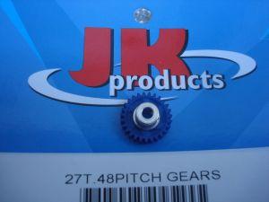 "JK corona modulo 48, 27 denti, per assali da 1/8"", diametro: 15,27 mm"