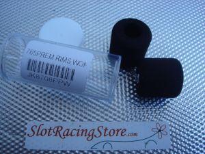 """JK ruote nere 1/24 per asse 1/8"""", diametro .765"""", cerchio piccolo plastica, gomma wonder"""