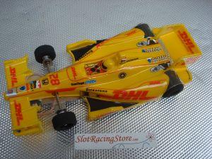 """JK modello 1/24 Indy car con motore Hawk 7, carrozzeria dipinta con decals, assali 3/32"""" e ingranaggi modulo 64"""