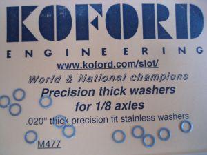 """Koford spessori da .020""""  per assali da 1/8"""""""