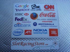 Slot Lab foglio adesivo sponsor #16