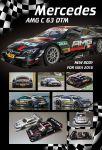 """Attan Mercedes AMG C63 DTM carrozzeria Produzione, .005"""" sottile, trasparente con maschere adesive"""