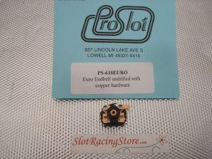 ProSlot testina assemblata con parti in ottone per motori Pro Slot Euro MK1 , non forata