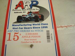 ARP pignone 15 denti, modulo 64, 5 gradi di angolazione, foro 2mm