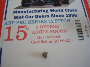 ARP pignone 15 denti, modulo 72, 5 gradi di angolazione, foro 2mm