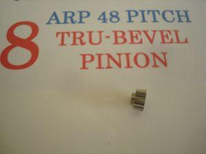ARP pignone 8 denti, modulo 48, foro 2 mm, 6° angolato