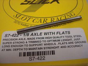 """Slick-7 assale diametro 1/8"""" con flats, lunghezza 54,90mm"""