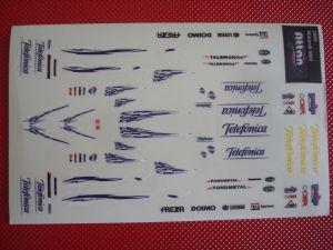 Minardi M02 Formula 1 2000 adesivi in scale 1/32