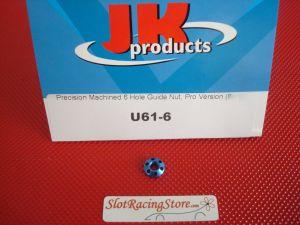 JK dado pick-up in alluminio anodizzato blu, 6 fori, richiede chiavino speciale JK L-30, versione Pro
