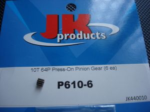 JK pignone a pressione in acciaio 10 denti modulo 64, 1 pezzo