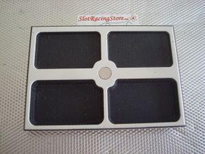 Dubick attrezzo per organizzazione box con 4 sezioni e magnete centrale per spilli