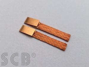SCB contatti striscianti Super Thin, materiale: rame brillante, misure: 4,60mm x 0,50mm x 28mm, 5 coppie