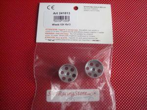 MB cerchi 1/24 in ergal per assali da 3mm, diametro: 18mm, larghezza: 13mm
