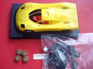 NSR Mosler MT900R EVO 5 kit con carrozzeria ultraleggera gialla, anglewinder King 21 Evo 3