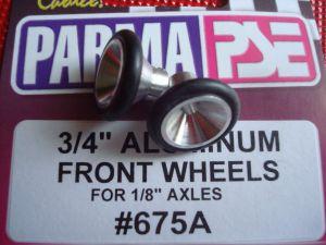 """Parma ruote anteriori in alluminio, diametro 3/4"""" (19,05mm), per assali 1/8"""""""