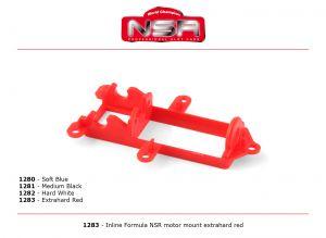 NSR supporto motore in linea per Formula 86/89, durezza: extra dura, colore: rosso