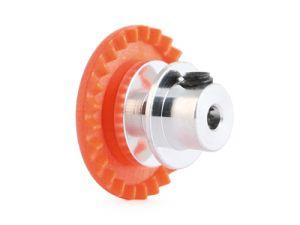 """NSR corona in linea con mozzo in alluminio per assali 3/32"""", 25 denti, colore arancio, per pignoni NSR da 5,5mm"""