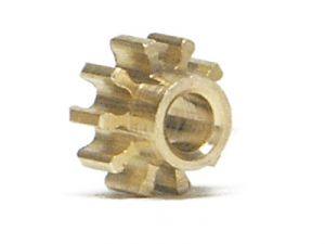 NSR pignone 10 denti, ottone, diametro: 5,5mm, per modelli NSR in linea, 2 pezzi
