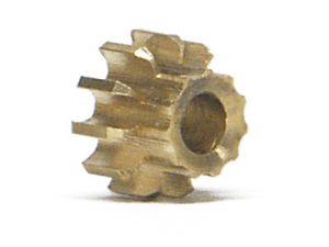 NSR pignone 11 denti, ottone, diametro: 5,5mm, per modelli NSR in linea, 2 pezzi
