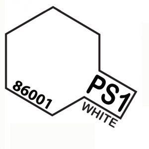 Tamiya PS01 vernice spray per policarbonato, 100ml, white