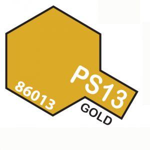 Tamiya PS13 vernice spray per policarbonato, 100ml, gold