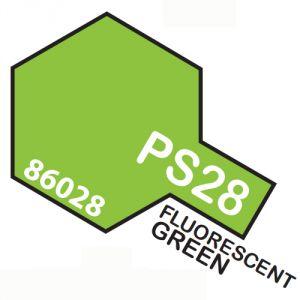 Tamiya PS28 vernice spray per policarbonato, 100ml, fluorescent green