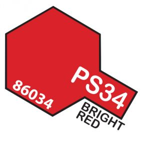 Tamiya PS34 vernice spray per policarbonato, 100ml, bright red
