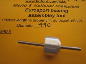 """Koford attrezzo per allineare i cuscinetti nei motori Eurosport, diametro: .490"""""""