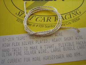 """Slick-7  """"Rope"""" filo argentato per shunt"""
