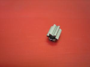 Camen pignone 6 denti, modulo 64, foro 2mm