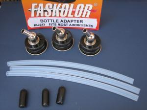 Faskolor 3 adattatori bottiglie per aerografi