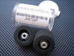 """JK ruote nere 1/32 per asse 3/32"""", diametro .720"""", cerchio in plastica tipo reverse"""