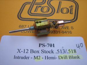 """ProSlot indotto X-12 con anticipo 40 gradi, diametro .518"""", drill blank"""
