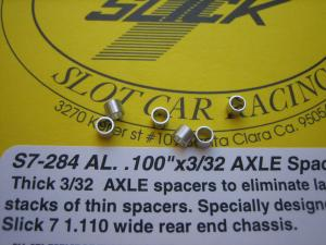 """Slick-7 spessori in alluminio da 2,5 mm assale 3/32"""""""